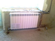 Замена и установка батарей отопления. Автономное отопление.